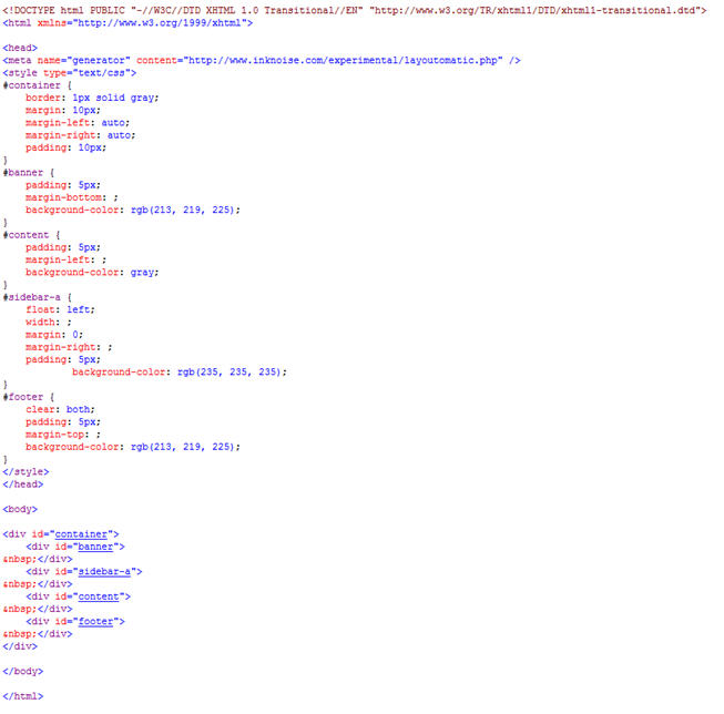Html And Css Code For Website Design