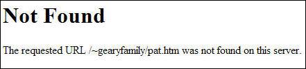 Generic 404 error message.