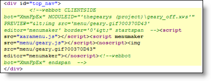 Screenshot Xara  MenuMaker original code.